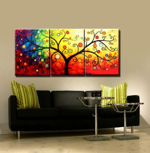 Modern Abstract Huge Canvas Oil Painting TREE No frame
